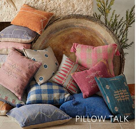 Beautiful colorful pillows from Sundance catalog
