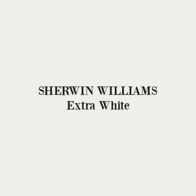 SHERWIN WILLIAMS Extra White paint color. #paintcolors #sherwinwilliams #extrawhite