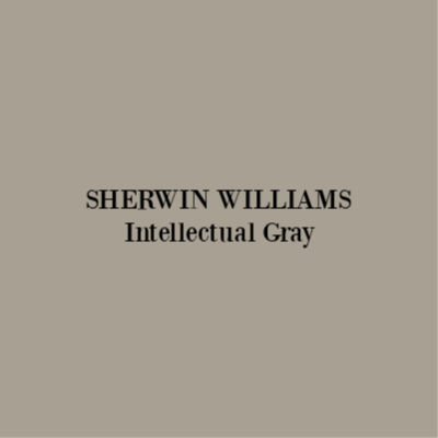 Sherwin Williams Intellectual Gray paint color. #sherwinwilliams #intellectualgray #paintcolors