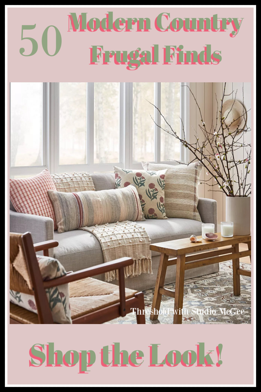 50 Modern Country Frugal Finds for Home on Hello Lovely! #shopthelook #moderncountry