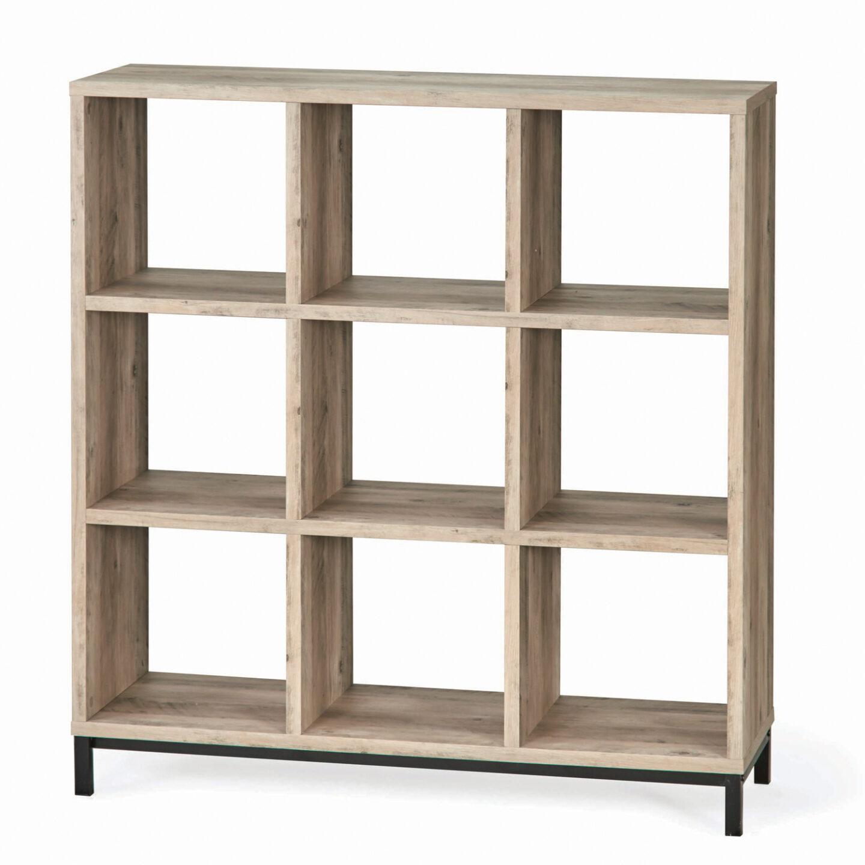 9 Cube Storage Organizer with Base a lot like Ikea Kallax but from BHG. #cubestorage #shelves #ikeakallax
