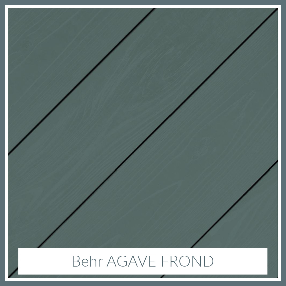 Agave Frond (Behr) paint color for a tranquil, moody, deep blue-green-gray-teal vibe. #agavefrond #paintcolors