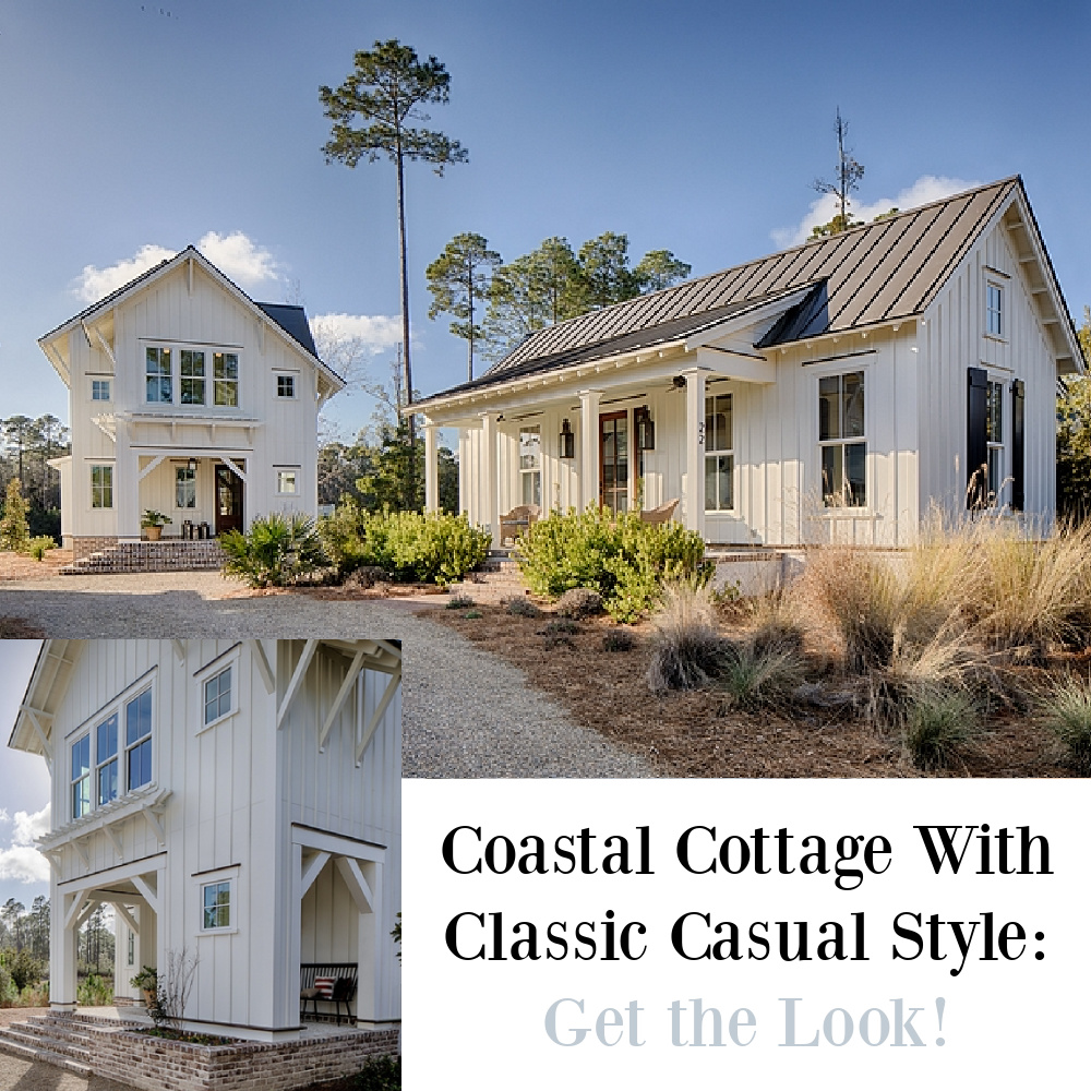Coastal Cottage With Classic Casual Style: Get the Look on Hello Lovely! #interiordesign #coastalstyle #getthelook #shopthelook