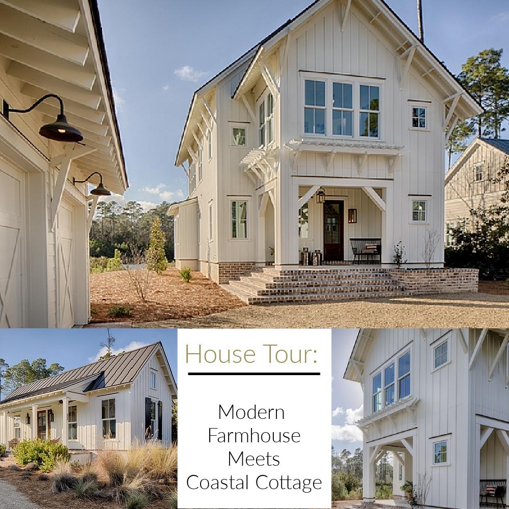 House Tour: Modern Farmhouse Meets Coastal Cottage (interior design by Lisa Furey). #coastalstyle #getthelook #interiordesign