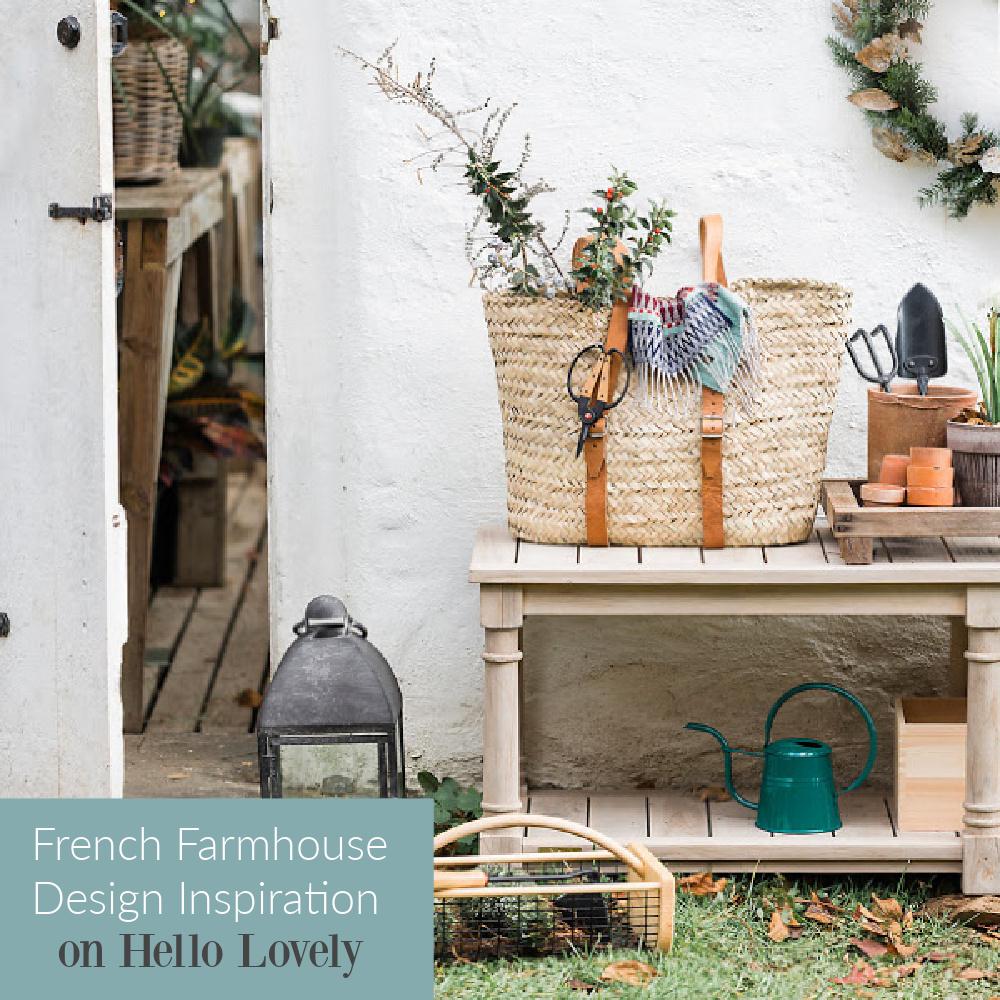French farmhouse design inspiration on Hello Lovely Studio. #frenchfarmhouse #furniture #interiordesign #frenchfarmhousedecor
