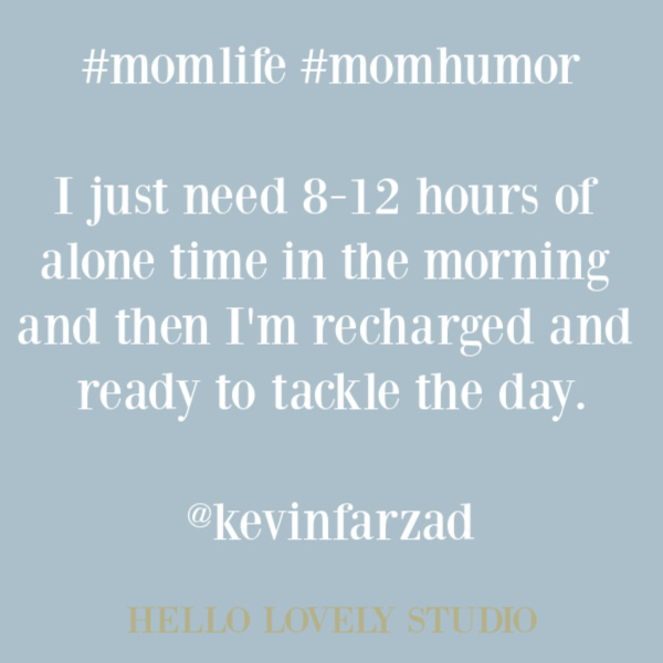 Humor and funny quote about parenting and motherhood on Hello Lovely Studio. #mommeme #momhumor #parentingmeme #funnyquote #quotes #humorquote #parentinghumor