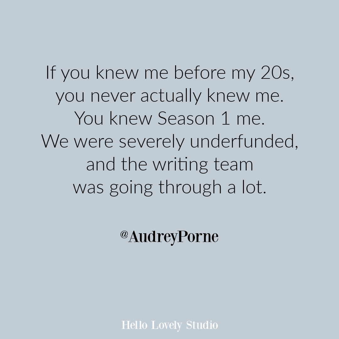 Funny quote about age and change on Hello Lovely Studio by @audreyporne. #funnyquotes #humorquote #aging #millennialhumor