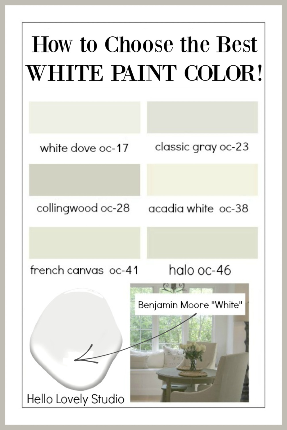 How to Choose the Right White Paint Color Every Time - come get the help on Hello Lovely! #paintcolors #whitepaint #interiordesign