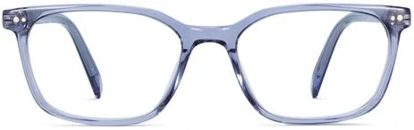 Warby Parker Weathers frames in Periwinkle Crystal. #bluegrey #eyeglasses #warbyparker