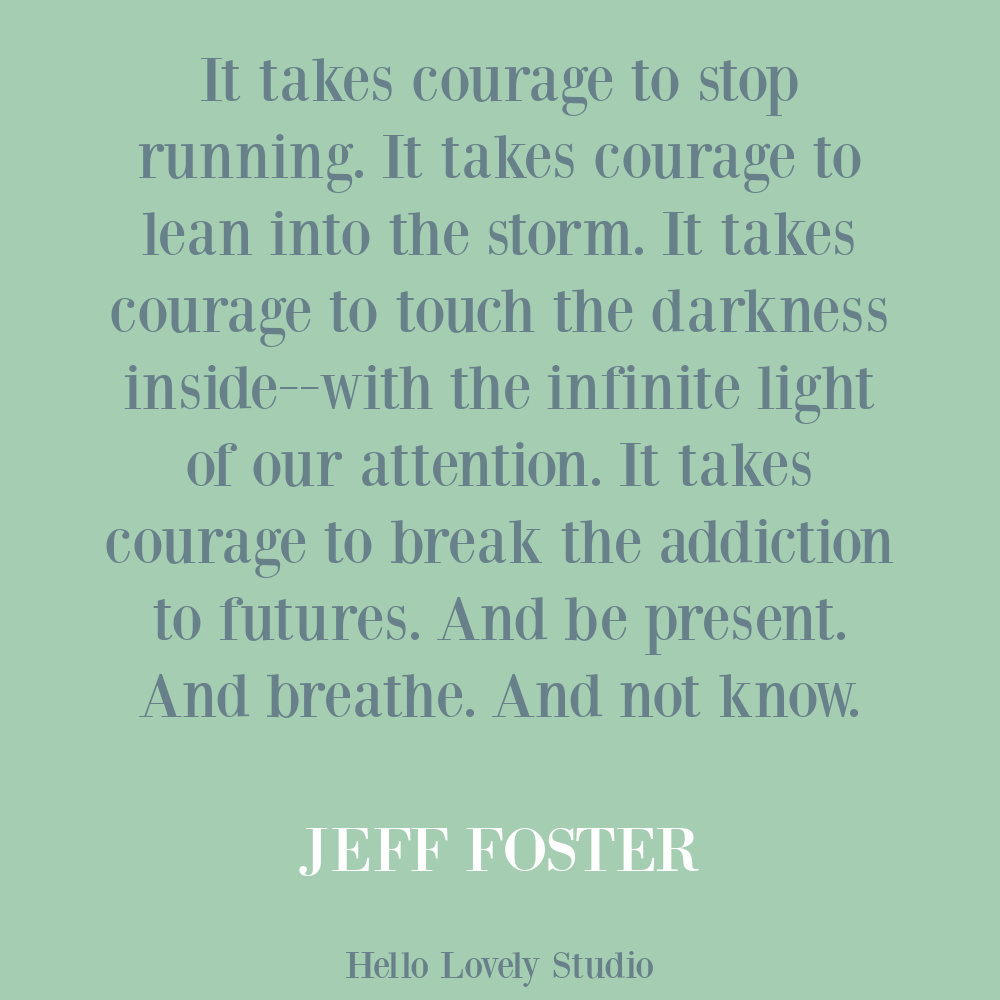 Self-care quote by Jeff Foster on Hello Lovely. #selfcarequotes #traumaquotes #healingquotes #couragequotes
