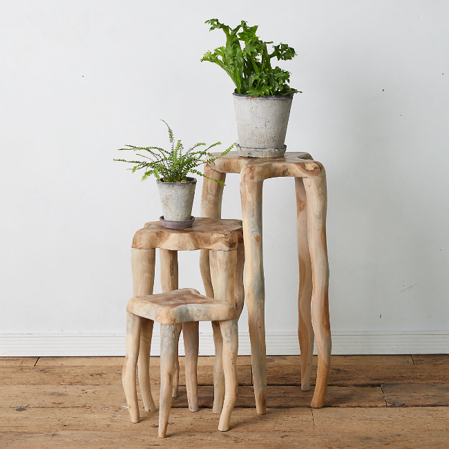 Teak Root Plant Stand - Terrain. Come visit 29 Lovely Feel Good Finds & Funny Quotes!