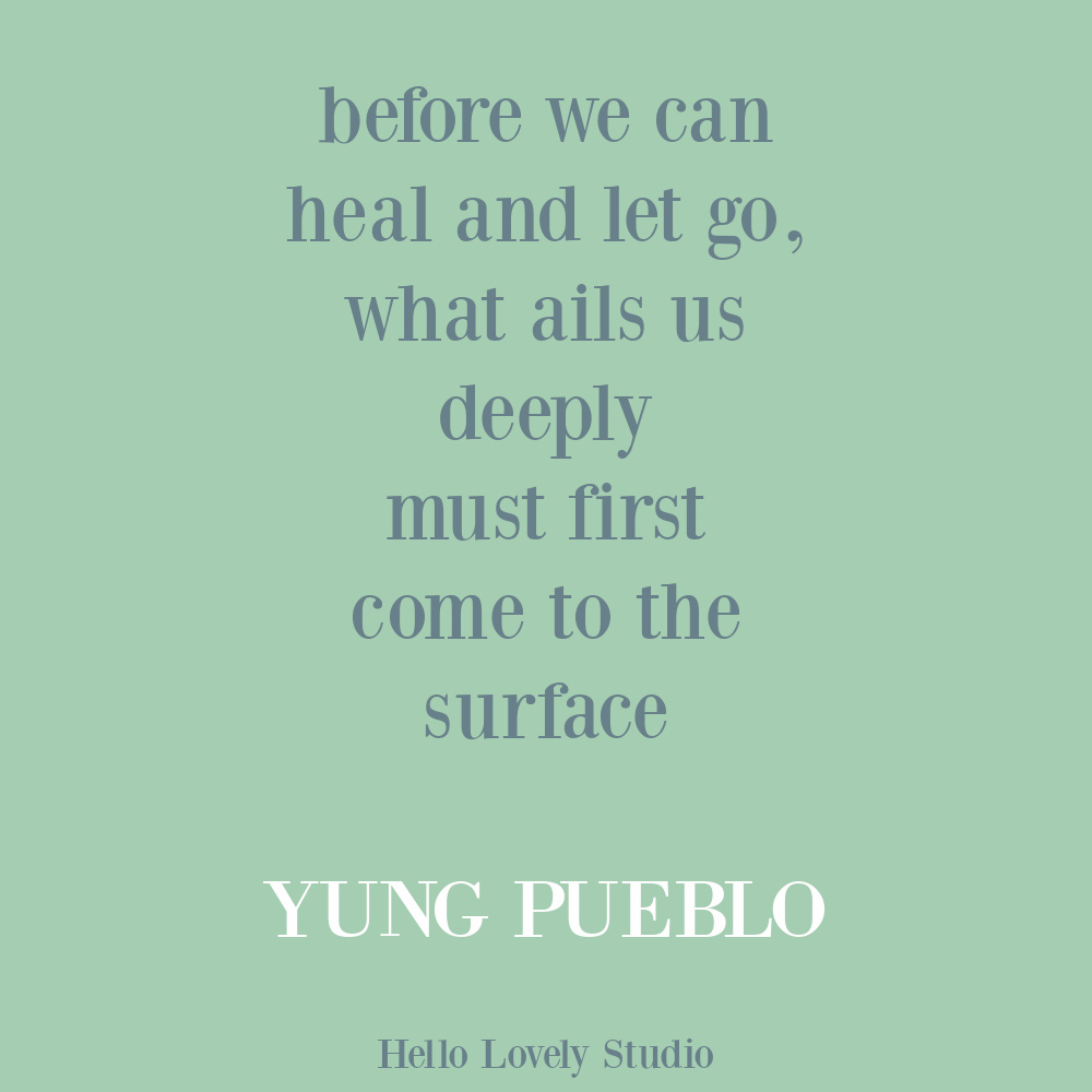 Yung Pueblo inspiring healing quote poetry on Hello Lovely. #yungpueblo #lovequotes #selfcare