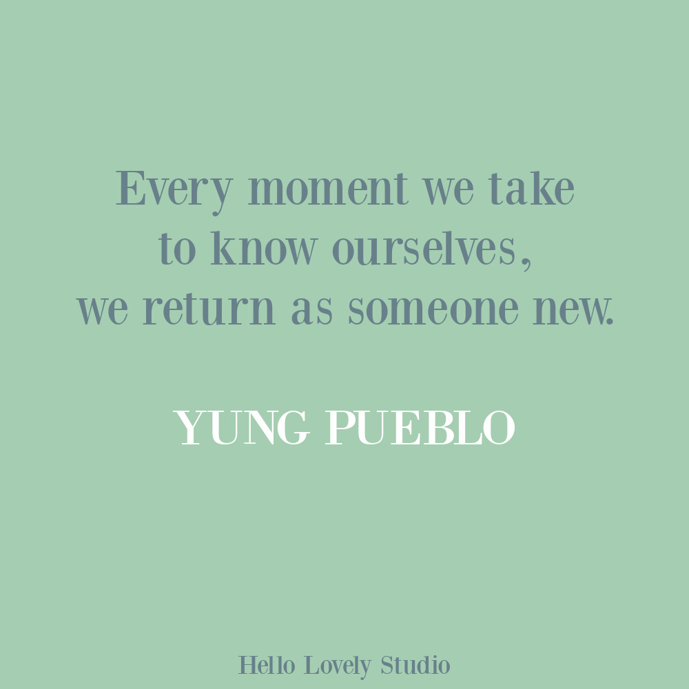 Yung Pueblo inspiring life quote poetry on Hello Lovely. #yungpueblo #lovequotes #selfcare
