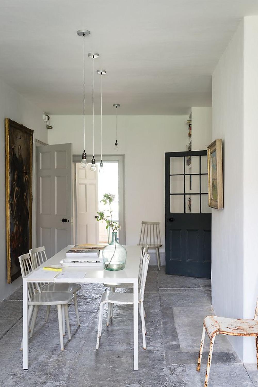 Ammonite paint color by Farrow & Ball is a wonderful warm greyed white with an atmospheric, serene mood. #ammonite #farrowandball #paintcolors #lightgrey #diningroom #europeancountry #rusticdecor