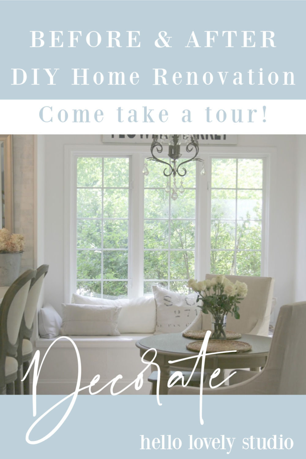 Before and after DIY Home Renovation - Come take a Tour. #hellolovelystudio #homerenovation #homeimprovement #beforeafter #fixerupper #interiordesign