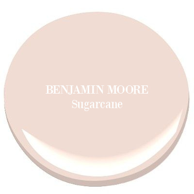 Benjamin Moore Sugarcane is a lovely, timeless, sophisticated blush pink to consider for your interiors. #benjaminmoore #sugarcane #paintcolors #pinkpaint #interiordesign