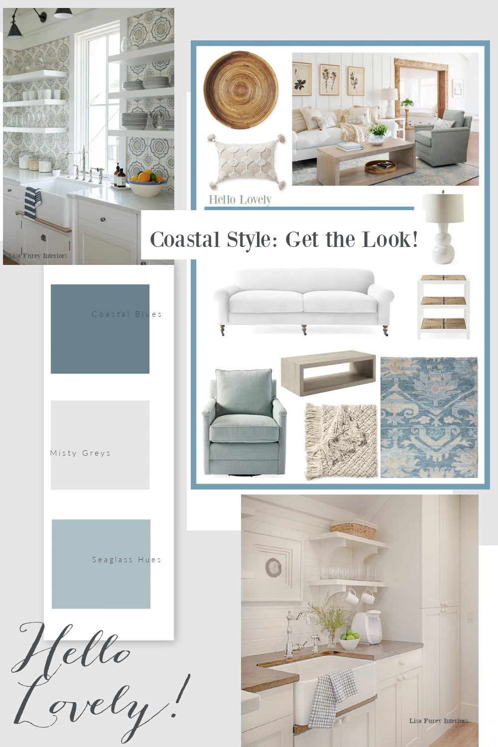 Coastal Style Get the Look Banner - Hello Lovely Studio