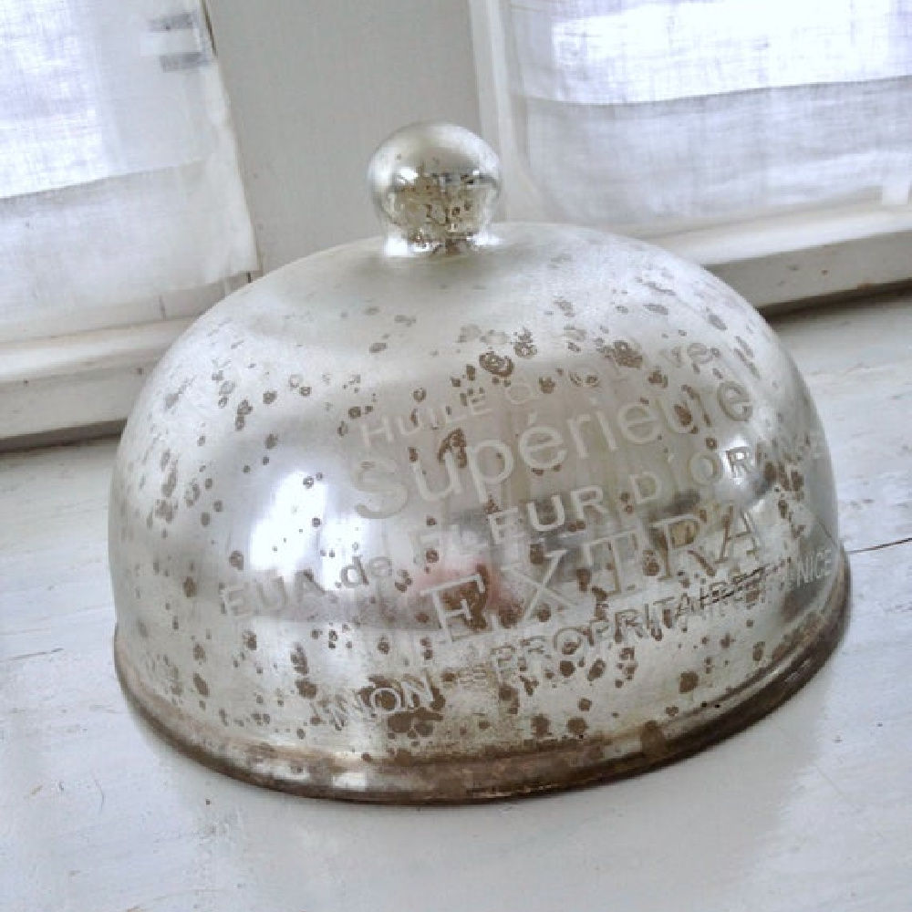 Mercury glass dome - My Petite Maison.
