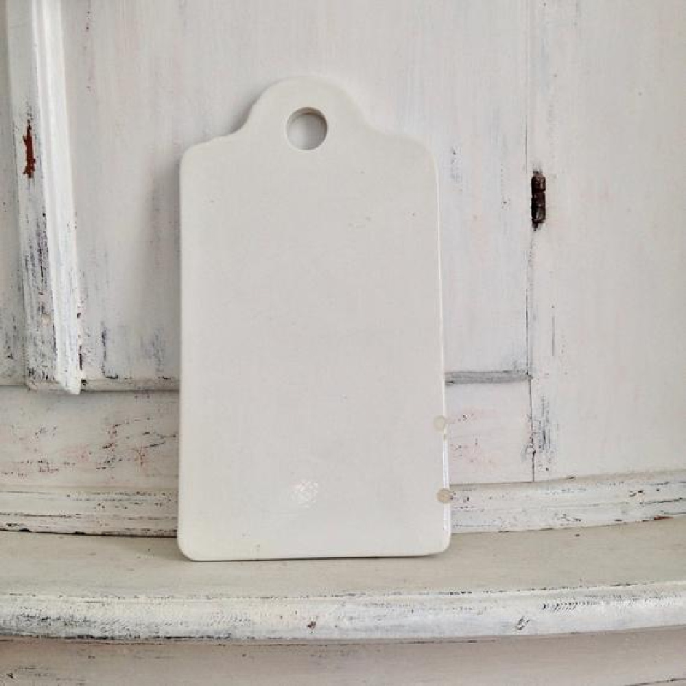 Vintage French white ironstone board - My Petite Maison.