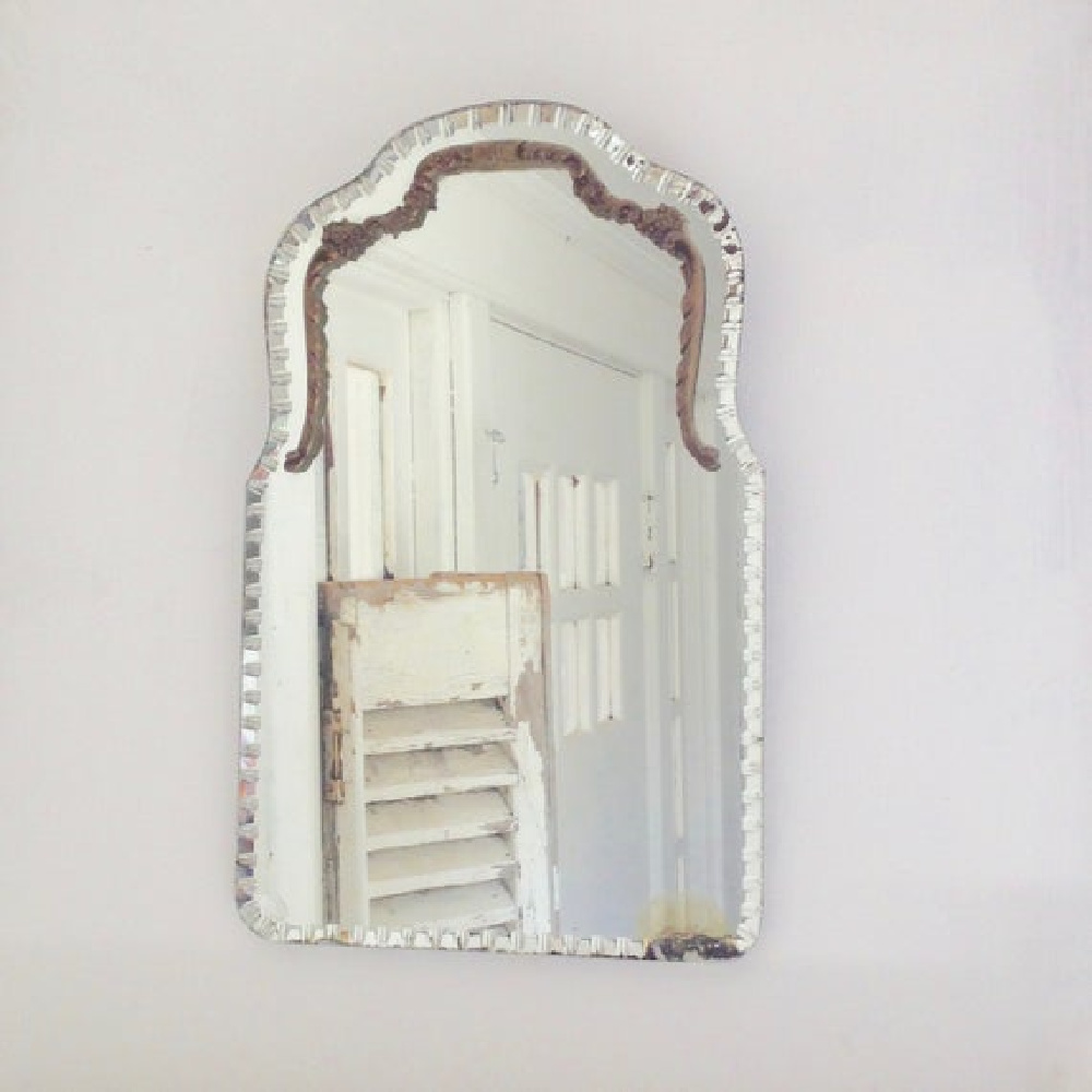 Vintage Grench beveled mirror - My Petite Maison. #frenchvintage #mirrors