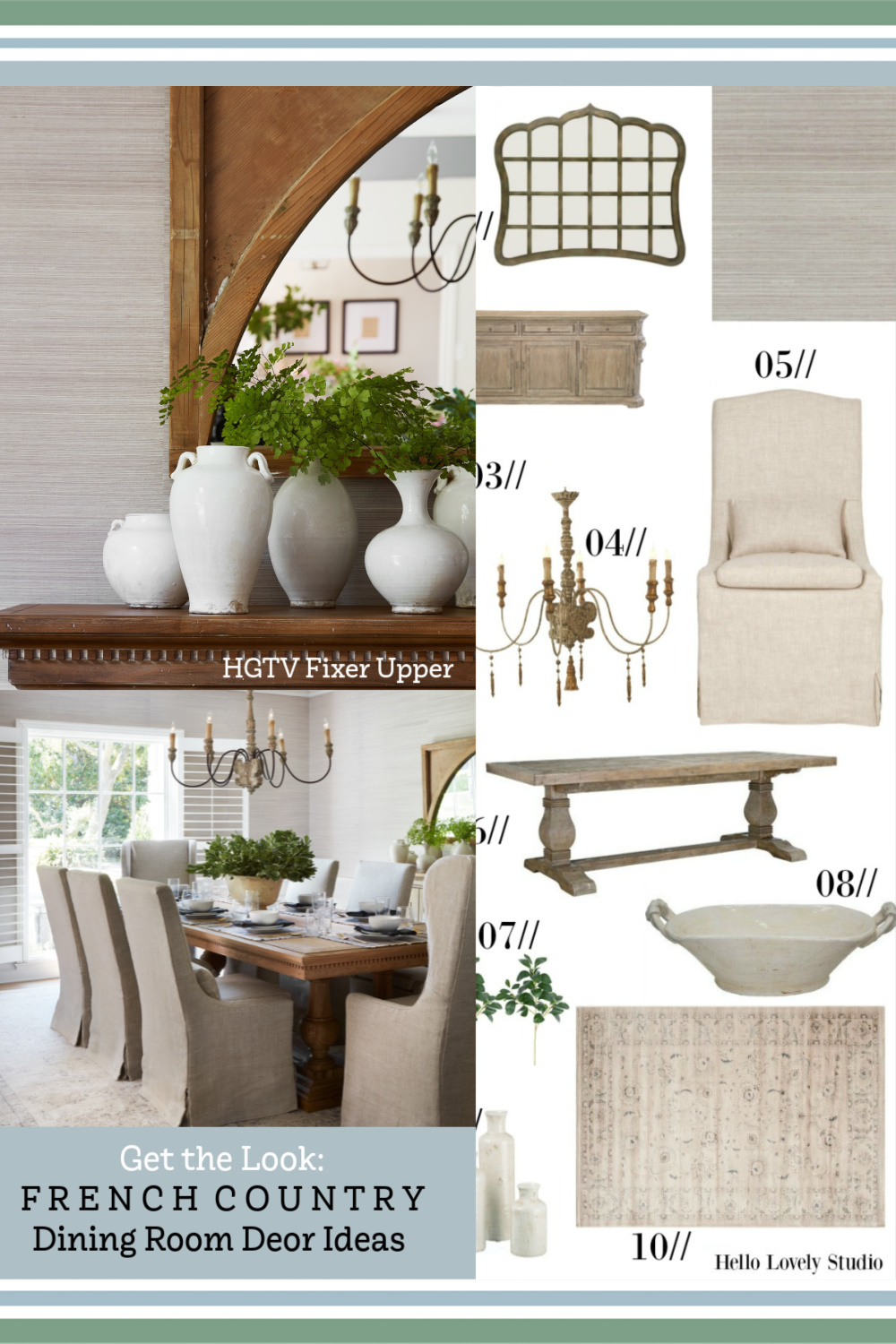 Get the look of the Club House (HGTV Fixer Upper) dining room on Hello Lovely!