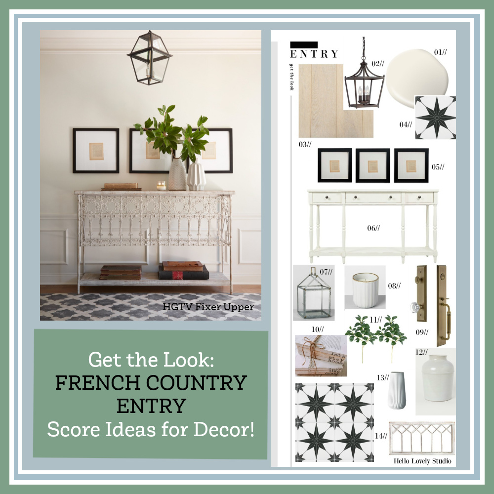 Get the Look: French Country Entry Score Ideas for Decor on Hello Lovely! #frenchcountry #entry