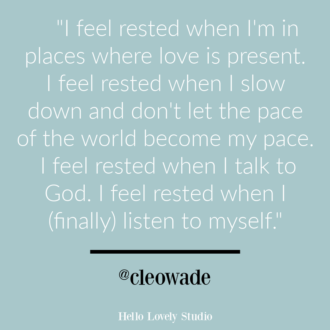 Quote about rest found @cleowade on Hello Lovely. #restquotes #inspirationalquotes