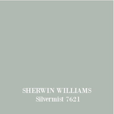Sherwin Williams Silvermist paint color is a lovely duck egg blue green paint perfect for French country and timeless interiors. #paintcolors #sherwinwilliams #silvermist #bluegreen #duckeggblue