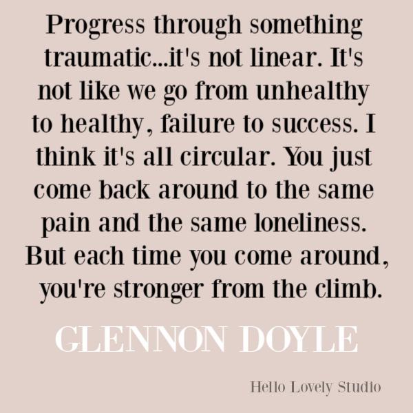 Faith, spirituality and inspirational quote on Hello Lovely Studio. #quotes #inspirationalquotes #spirituality #christianity #faithquotes #glennondoyle #untamed