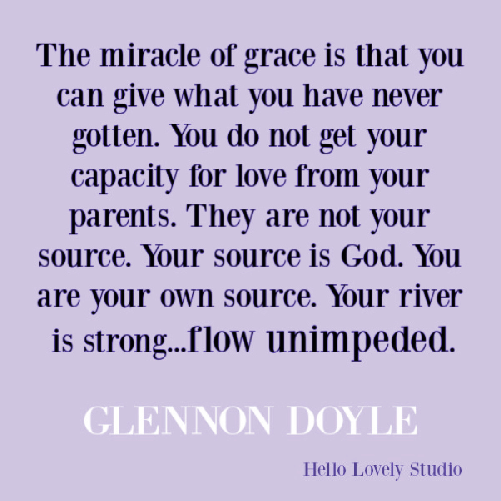 """Glennon Doyle quote from """"Untamed"""" about grace. #glennondoyle #quotes #inspirationalquotes #faithquote #gracequotes #spiritualgrowth #faithjourney"""