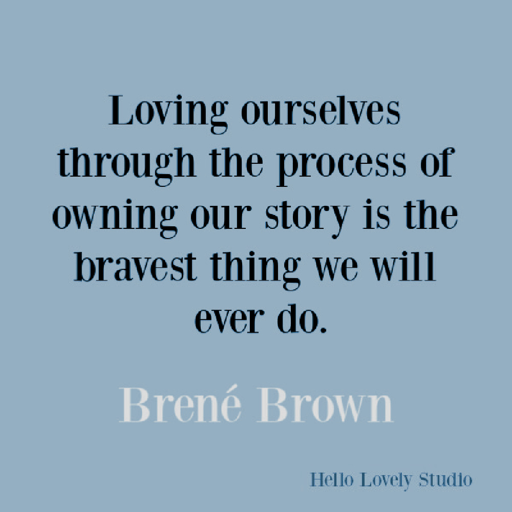 Brene Brown inspirational quote about courage, belonging, vulnerability, and integrity. #brenebrown #inspirationalquotes #vulnerability #selfkindness #spiritualtransformation #quotes #vulnerabilityquotes #couragequotes #selfkindness #selfcare