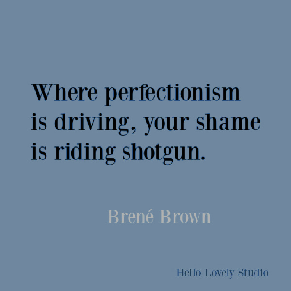 Brene Brown inspirational quote about courage, belonging, vulnerability, and integrity. #brenebrown #inspirationalquotes #vulnerability #perfectionism #shame #spiritualtransformation #quotes #vulnerabilityquotes #couragequotes #selfawareness #blame