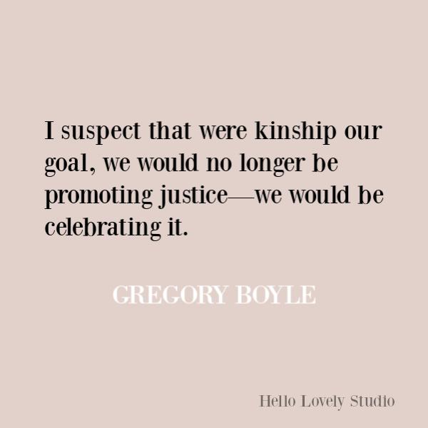 Faith, spirituality and inspirational quote on Hello Lovely Studio. #quotes #inspirationalquotes #spirituality #christianity #faithquotes #gregoryboyle