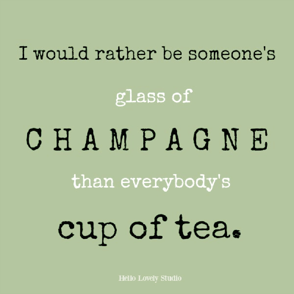 Whimsical quote about not pleasing everyone on Hello Lovely. #champagnequotes #whimsicalquotes