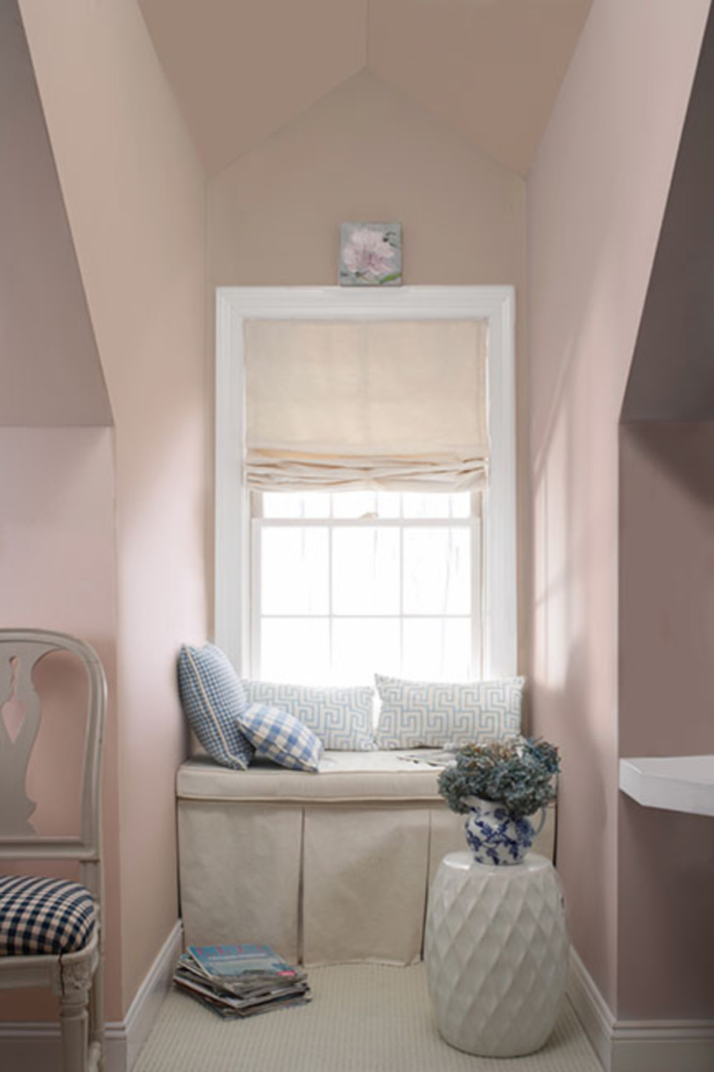 First Light pink paint color by Benjamin Moore. Come see the Best Sophisticated, Chic and Subtle Pink Paint Colors on Hello Lovely Studio!