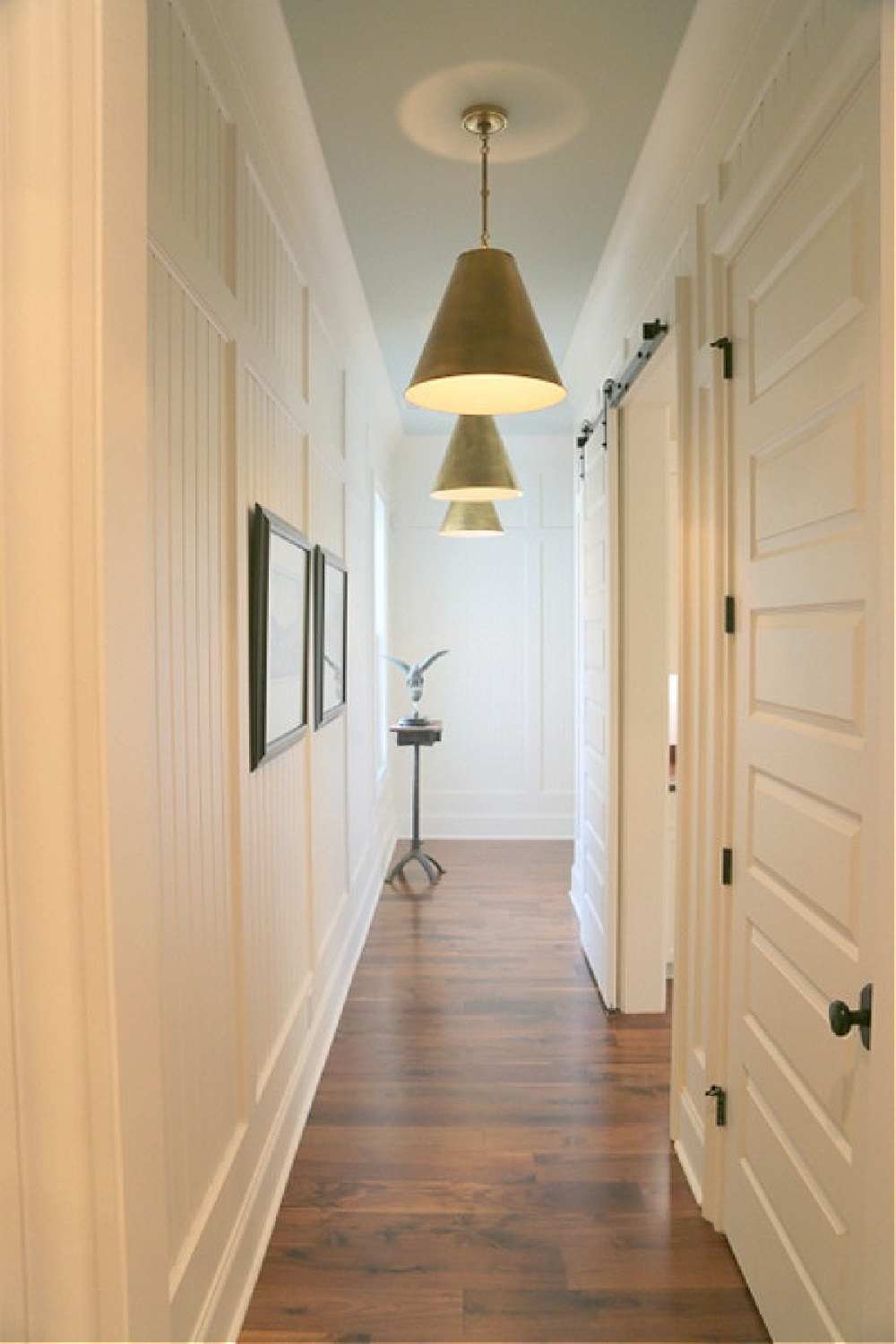 SHERWIN WILLIAMS Rainwashed on ceiling of Southern Living Showcase  hallway. Photo: The Decorologist.