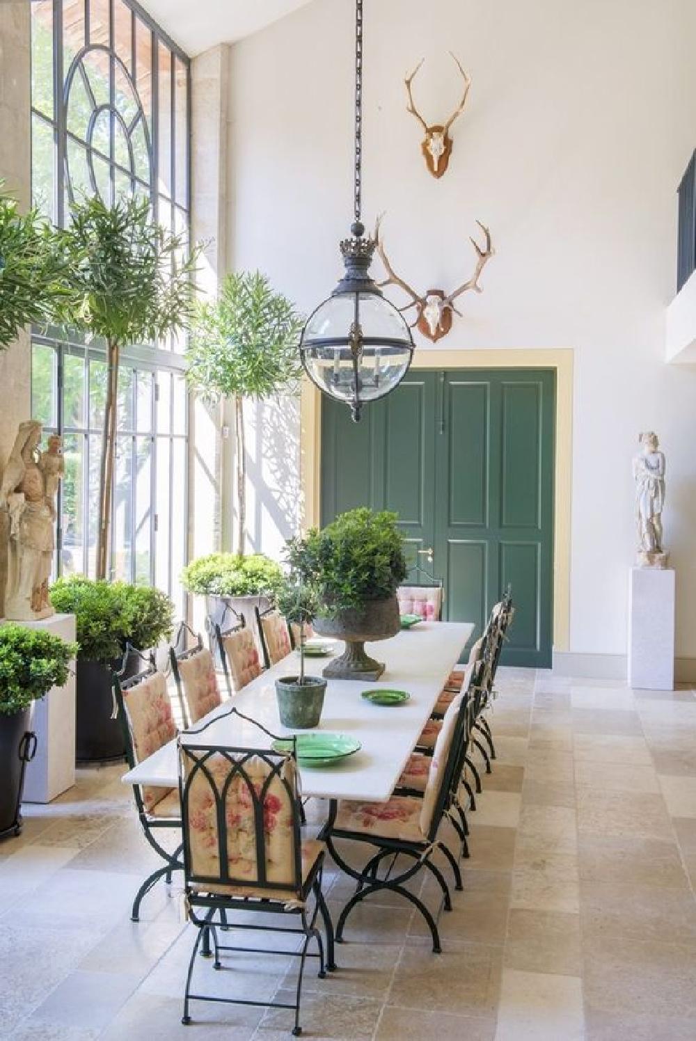 Exquisite orangery in a Provence French farmhouse (Le Mas des Poiriers).
