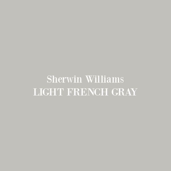 Light French Gray SW paint color swatch. #lightfrenchgray #paintcolors #sherwinwilliams