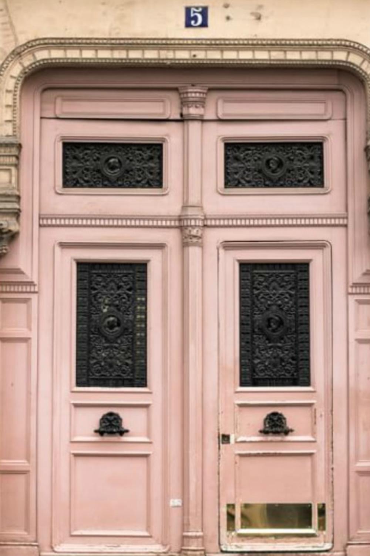 Paris Pretty in Pink framed print by Rebecca Plotnick - Pottery Barn. #blushpink #parisdoors #pinkparis