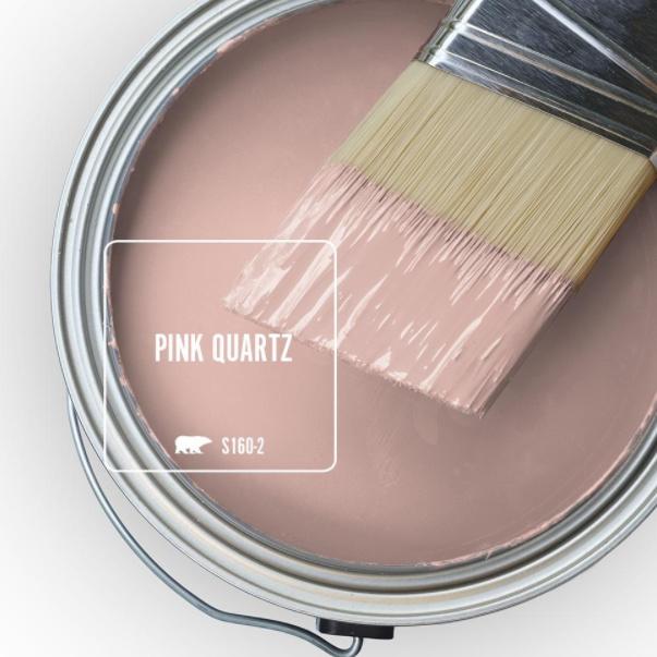 Pink Quartz (BEHR) rosy pink paint color swatch. #pinkpaintcolors #pinkquartz