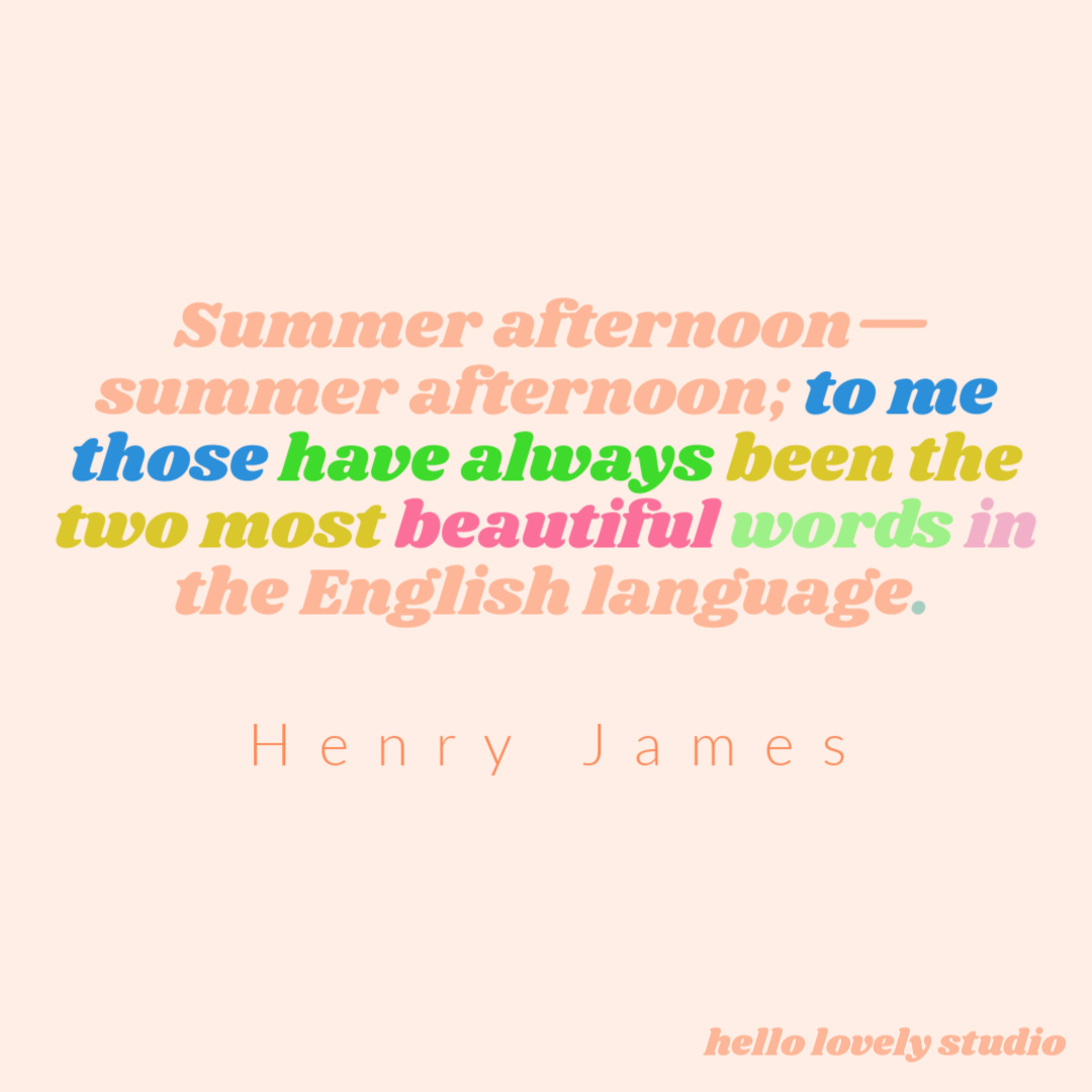 Whimsical and inspirational quote about summer - the sunshine and the magic - hello lovely studio! #hellolovelystudio #summerquotes #quotes #inspirationalquote #whimsicalquote #junequotes #julyquotes