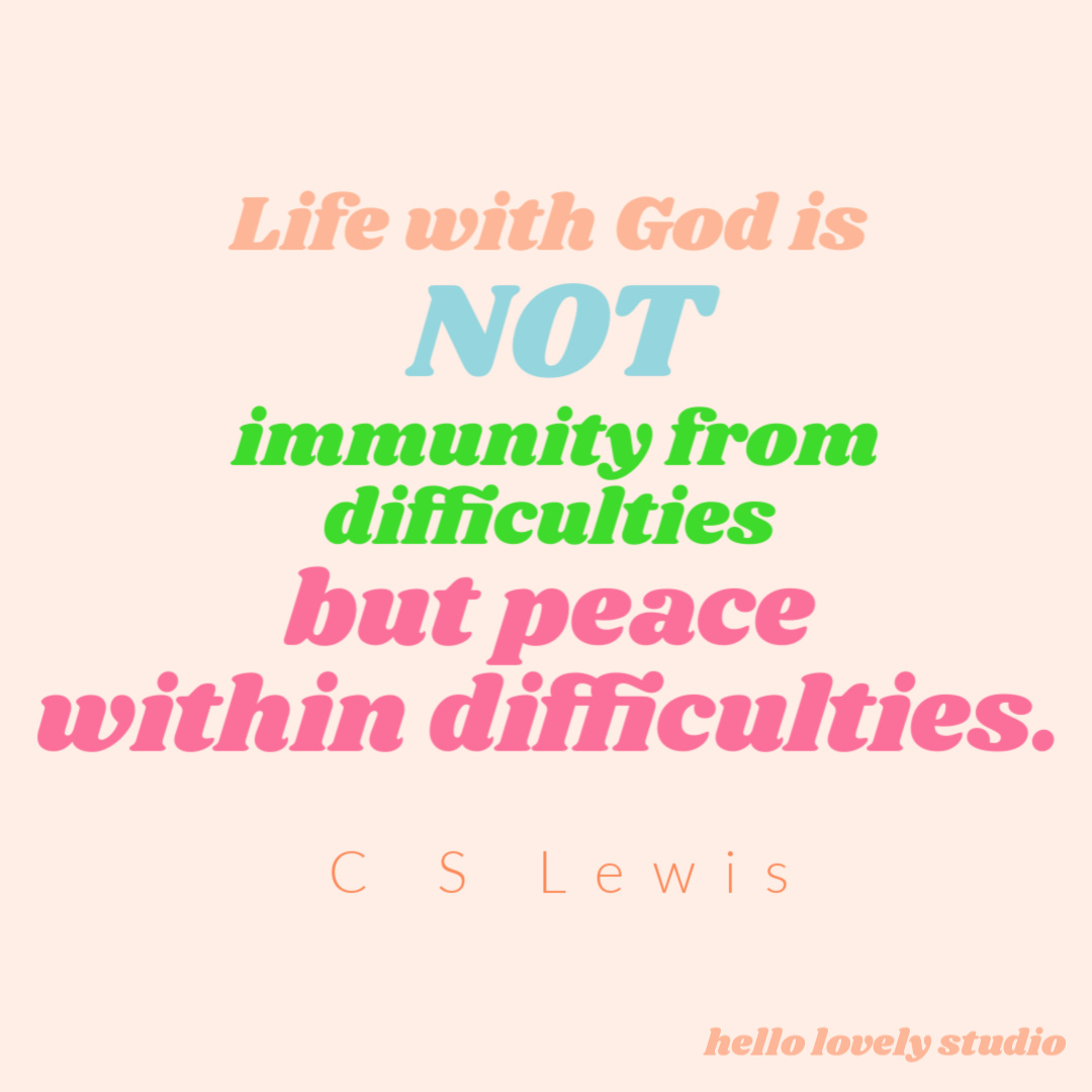 C. S. Lewis quote about life with God. #cslewis #quotes #inspirationalquotes #faithquotes #spiritualjourney #christianityquotes #faithquotes