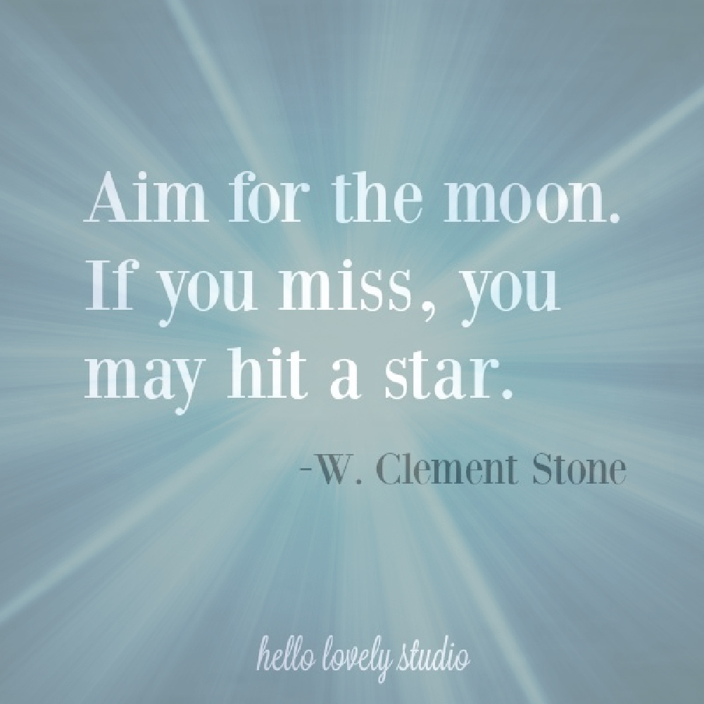 Moon quote by W. Clement Stone on Hello Lovely Studio. #moonquotes #encouragementquotes