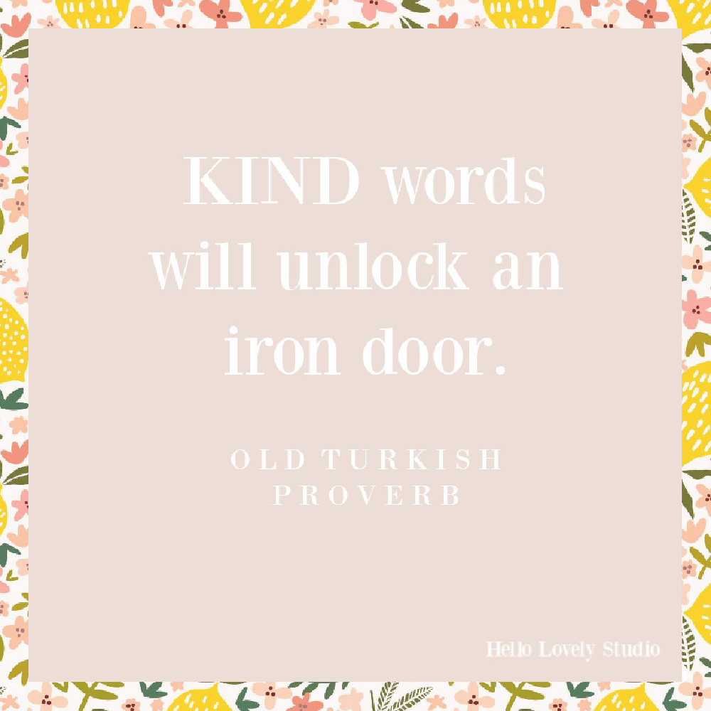 Kindness quote on Hello Lovely. #kindnessquotes