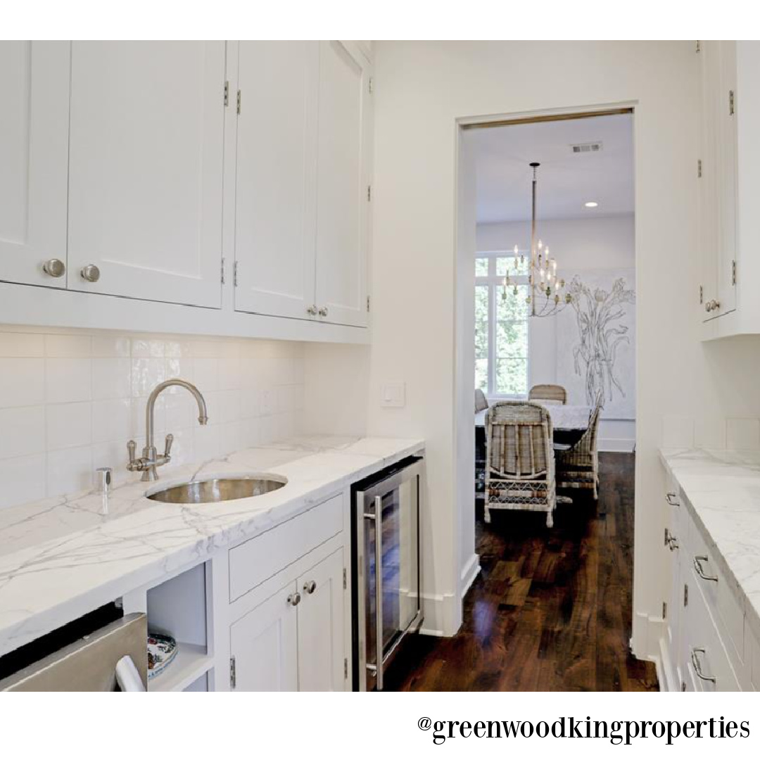 Butler pantry in a high end modern French Houston kitchen (M Naeve) - @greenwoodkingproperties