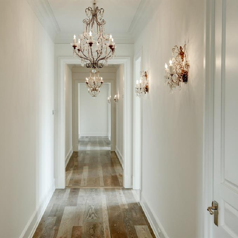 Antique sconces in Breathtaking French inspired Houston Home (2535 Inwood). #frenchcountry #housedesign #interiordesign #luxuryhome #frenchhome #sconces