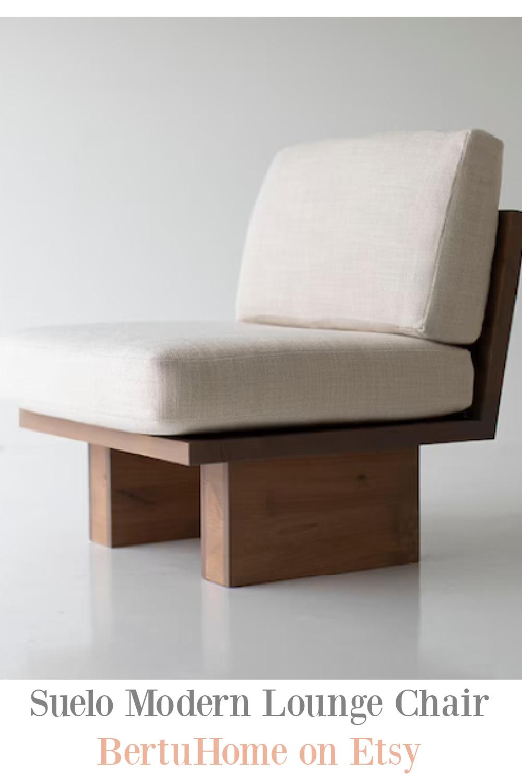 Suelo Modern Lounge Chair by BertuHome on Etsy. #modernchair #handmadefurniture