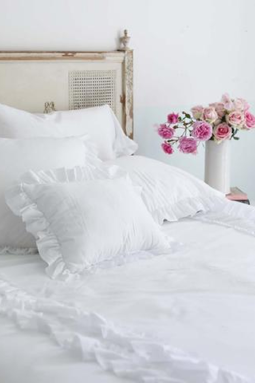 Simply Shabby Chic white ruffle bedding from Rachel Ashwell.