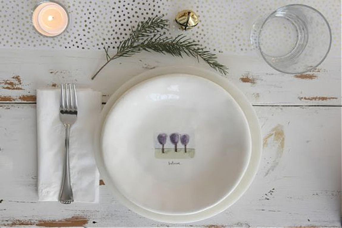 Simple Christmas place setting at my farmhouse holiday table - Hello Lovely Studio. #christmasdecor #placesetting #simplechristmas #hellolovelystudio #farmhousechristmas #christmastable