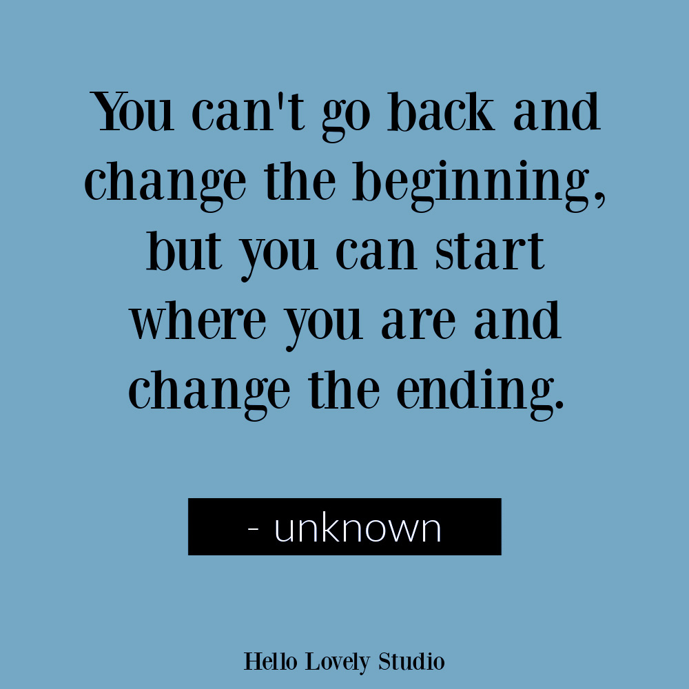 Inspirational quote about staying in the present on Hello Lovely. #beherenow #quotes